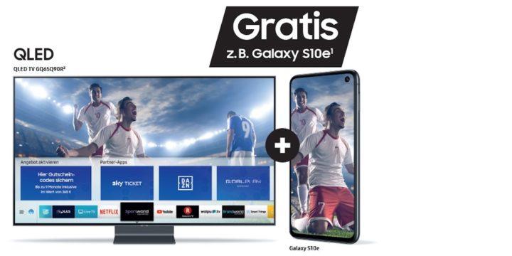 Aktion: Gratis Galaxy Smartphone bei Kauf eines Samsung QLED TV
