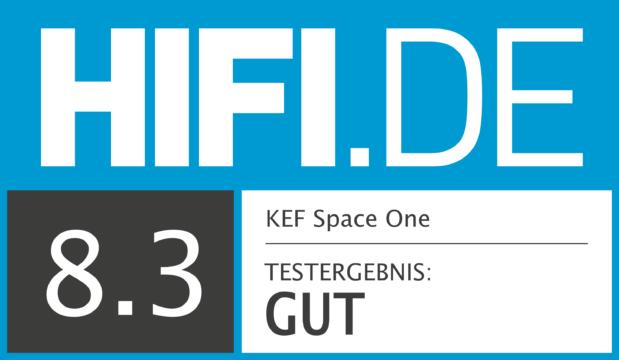 HIFI.DE Testsiegel für KEF Space One