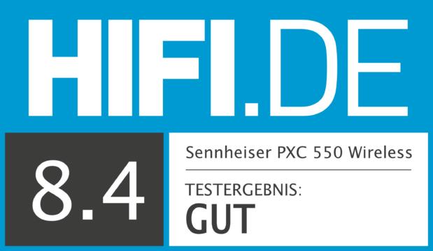 HIFI.DE Testsiegel für Sennheiser PXC 550 Wireless
