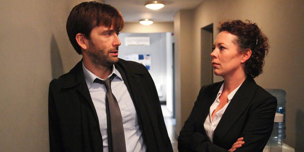 Oscarpreisträgerin Olivia Coleman und David Tennant spielen das Ermittler-Duo in Broadchurch. |Bild: BBC