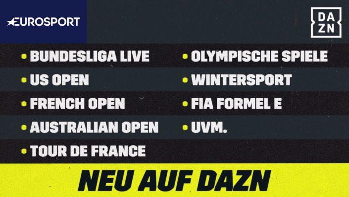 Eurosport und DAZN Live Sport