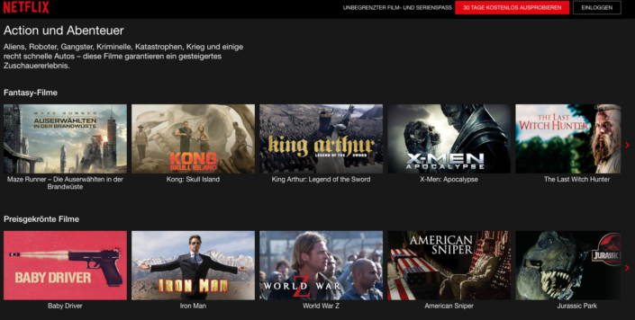 Netflix Genre Codes