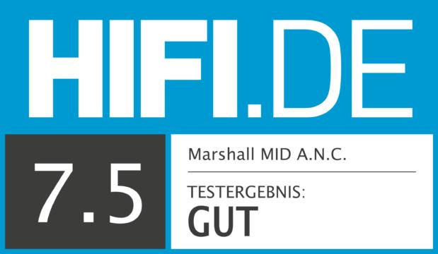 HIFI.DE Testsiegel für Marshall MID A.N.C.