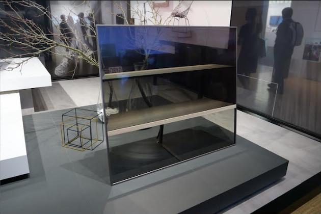 Transparente OLED-TV-Studie von Panasonic