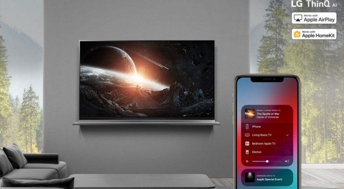 LG AirPlay 2 und HomeKit Support