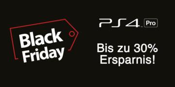 PlayStation 4 Pro – zum Black Friday um bis zu 30 Prozent reduziert