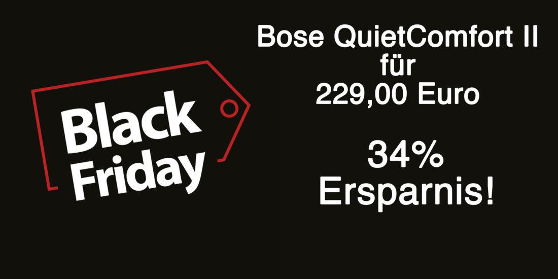 Black Friday Deal: Bose QuietComfort 35 II für 229 Euro