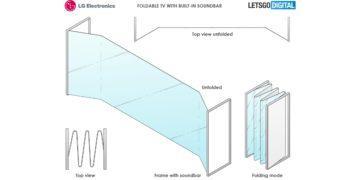 Leak zeigt LGs Konzept für faltbare Fernseher