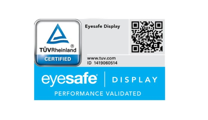 TÜV Siegel für Eyesafe Display