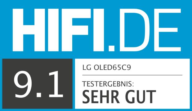 HIFI.DE Testsiegel für LG OLED65C9