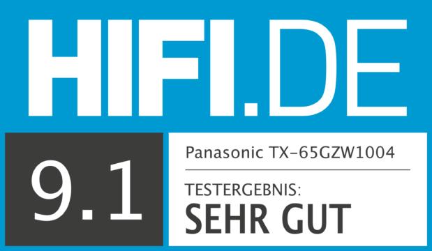 HIFI.DE Testsiegel für Panasonic GZW1004