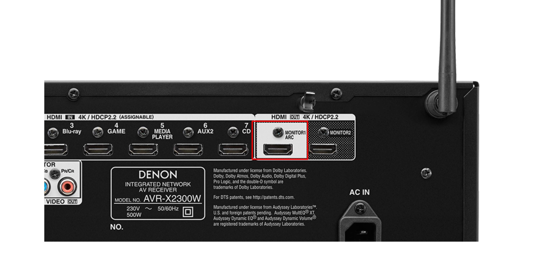 ARC-Anschluss HDMI
