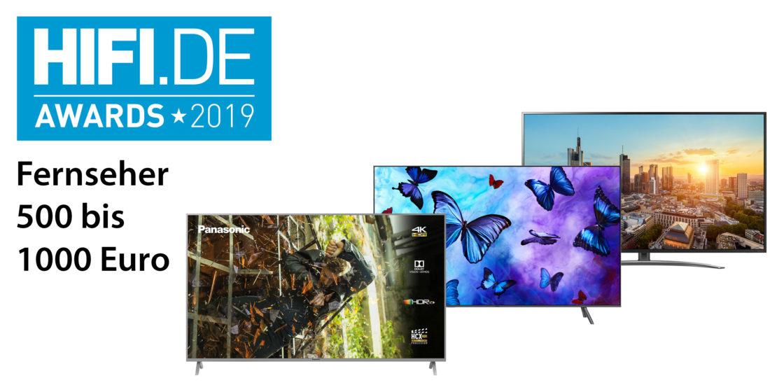 HIFI.DE Awards: Die besten Fernseher zwischen 500 und 1000 Euro
