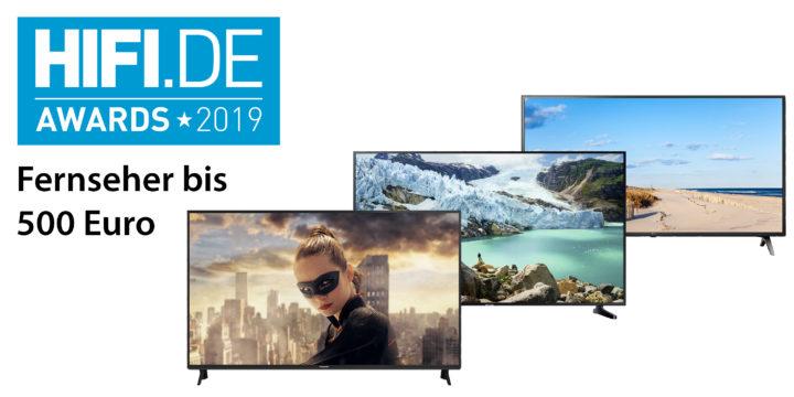 HIFI.DE Awards: Die besten Fernseher bis 500 Euro