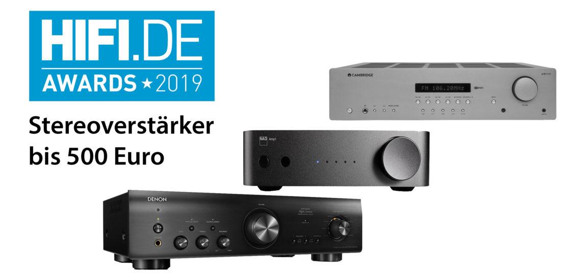 HIFI.DE Awards: Die besten Stereoverstärker bis 500 Euro