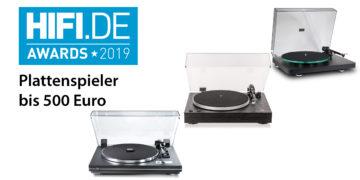 HIFI.DE Awards: Die besten Plattenspieler bis 500 Euro