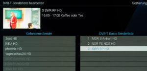 Neu: Sender sortieren in der eigenen Reihenfolge