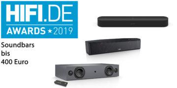 HIFI.DE-Awards: Die besten Soundbars bis 400 Euro