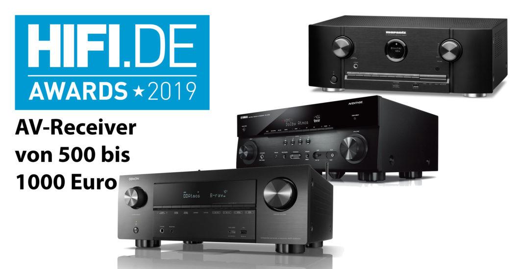 HIFI.DE Awards: Die besten AV-Receiver zwischen 500 und 1000 Euro