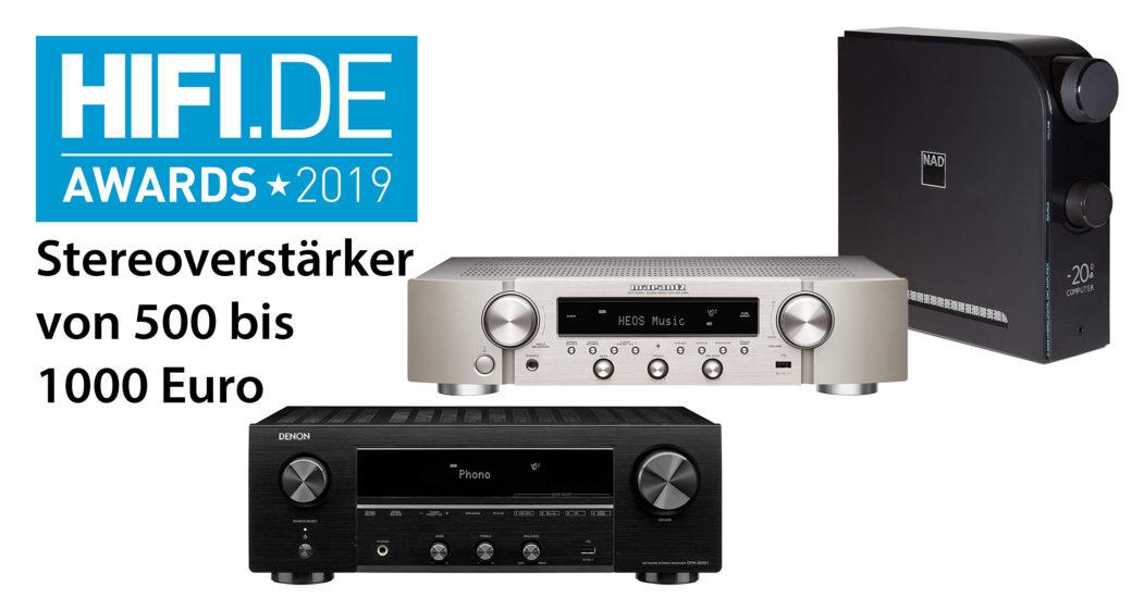 HIFI.DE Awards: Die besten Stereoverstärker von 500 bis 1000 Euro