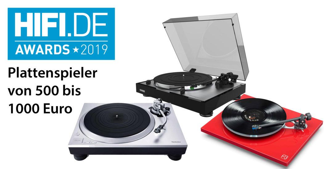 HIFI.DE Awards: Die besten Plattenspieler von 500 bis 1000 Euro