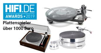HIFI.DE Awards: Die besten Plattenspieler über 1000 Euro