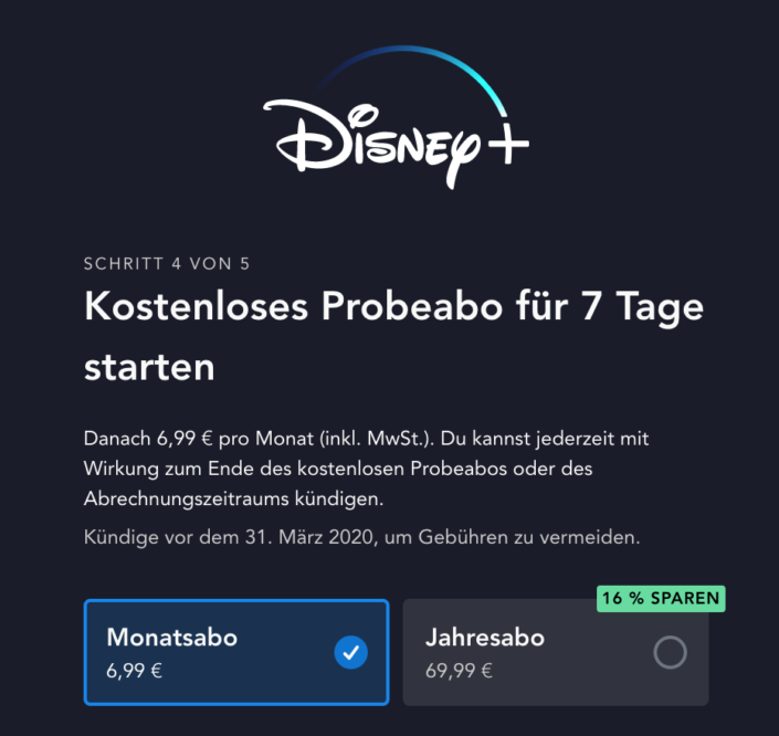 Disney Plus Abos