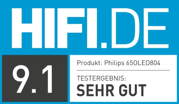 HIFI.DE Testsiegel für Philips 804