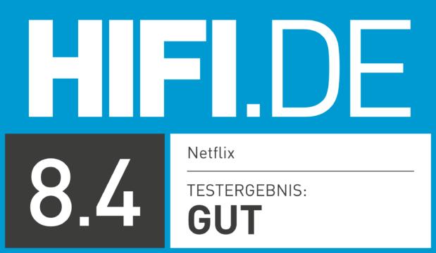HIFI.DE Testsiegel für Netflix
