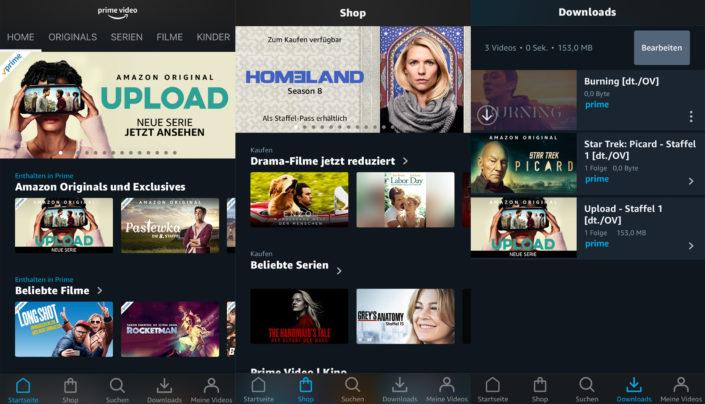 Auf mobilen Geräten lassen sich Inhalte auch Offline speichern. | Bild: Amazon