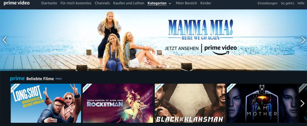Das Angebot an aktuellen Filmen bei Amazon Prime verbessert sich stetig. |Bild: Amazon