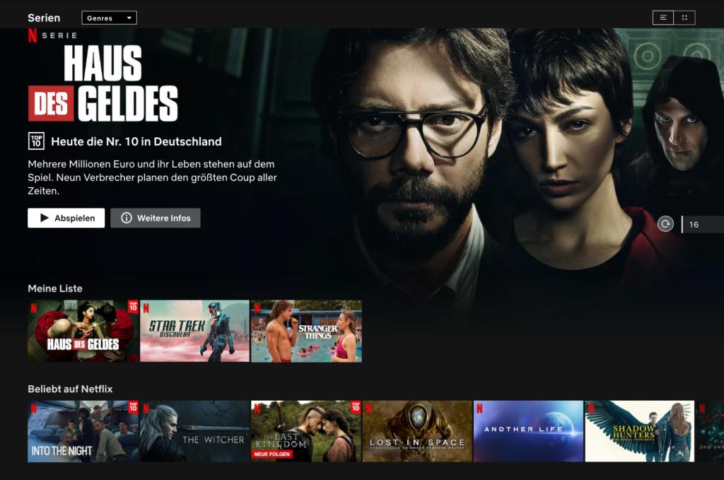 Das Serien-Angebot von Netflix sucht seinesgleichen. |Bild: Netflix