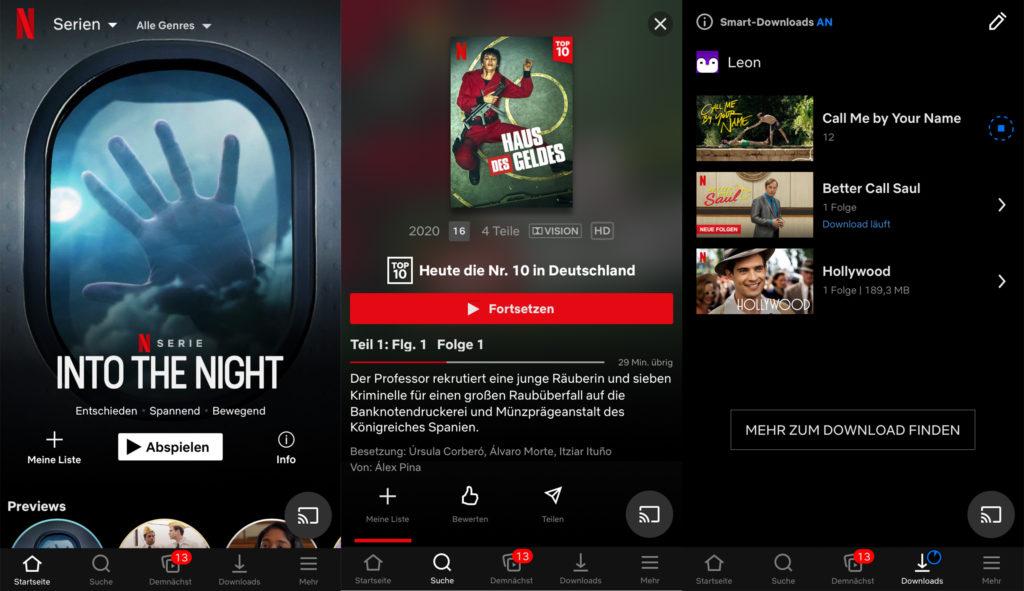 Netflix auf dem Smartphone