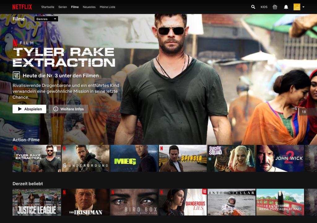 Netflix bietet eine Fülle von Blockbustern, deutschen Filmen und preisgekrönten Werken an. | Bild: Netflix