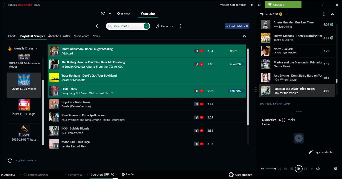 Audials Music Tube 2020_Charts