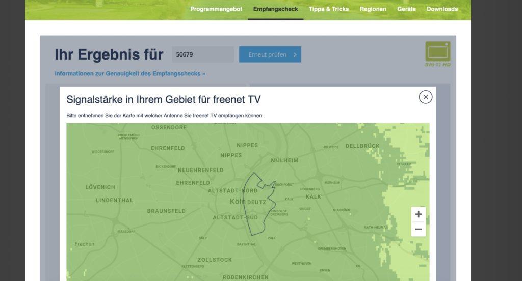 DVB-T2 HD Emfpangscheck