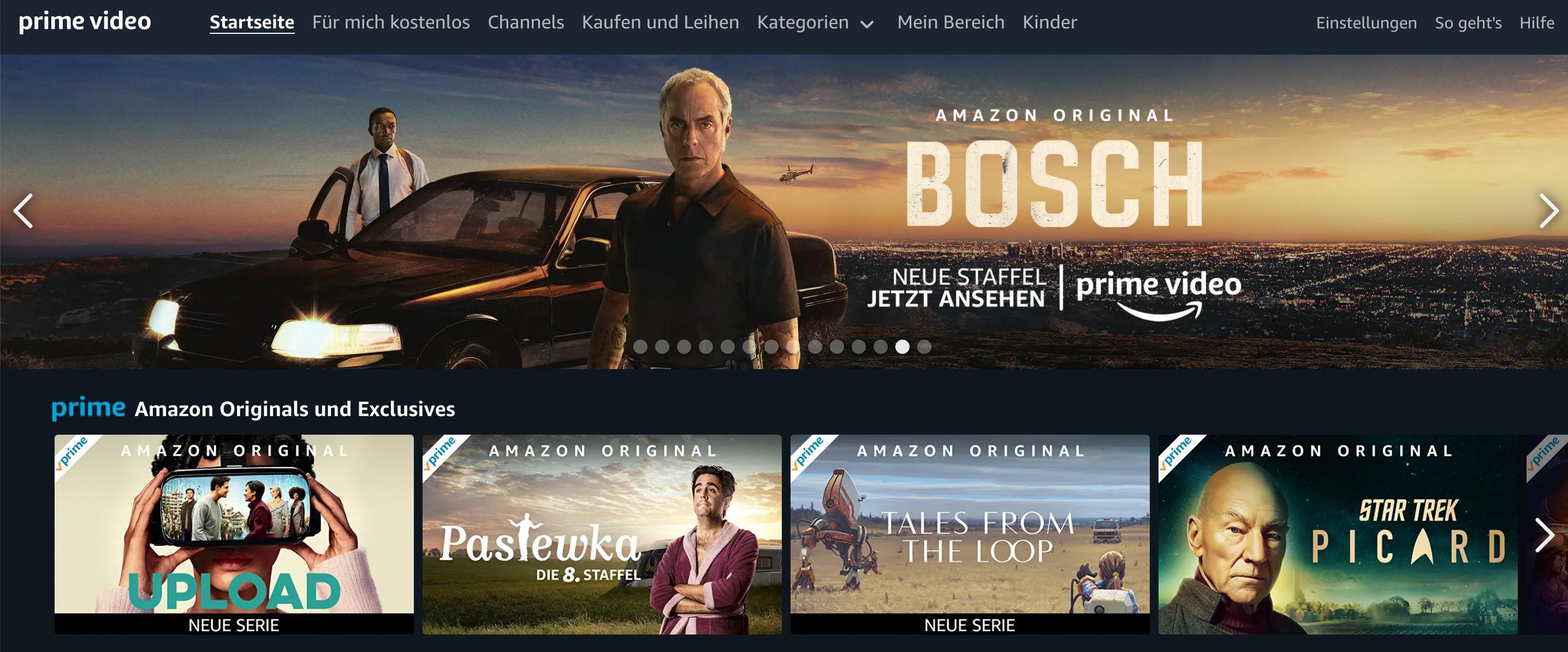 Bosch ist eine der Serien, die Amazon seit Jahren selbst produziert. |Bild: Amazon