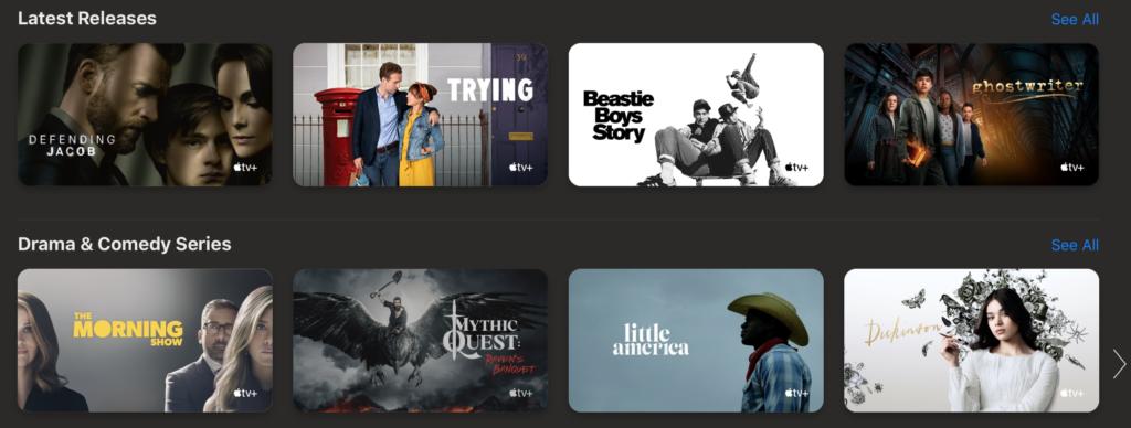 Apple TV Plus auf Apple-Geräten
