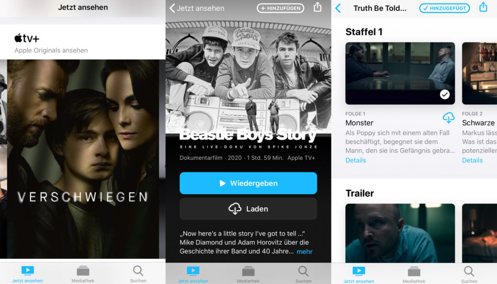 Apple TV Plus auf dem Smartphone