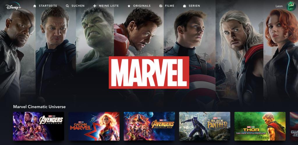 Marvel ist eine der großen Marken von Disney. Darum haben die dazugehörigen Filme eine eigene Unterseite. | Bild: Disney
