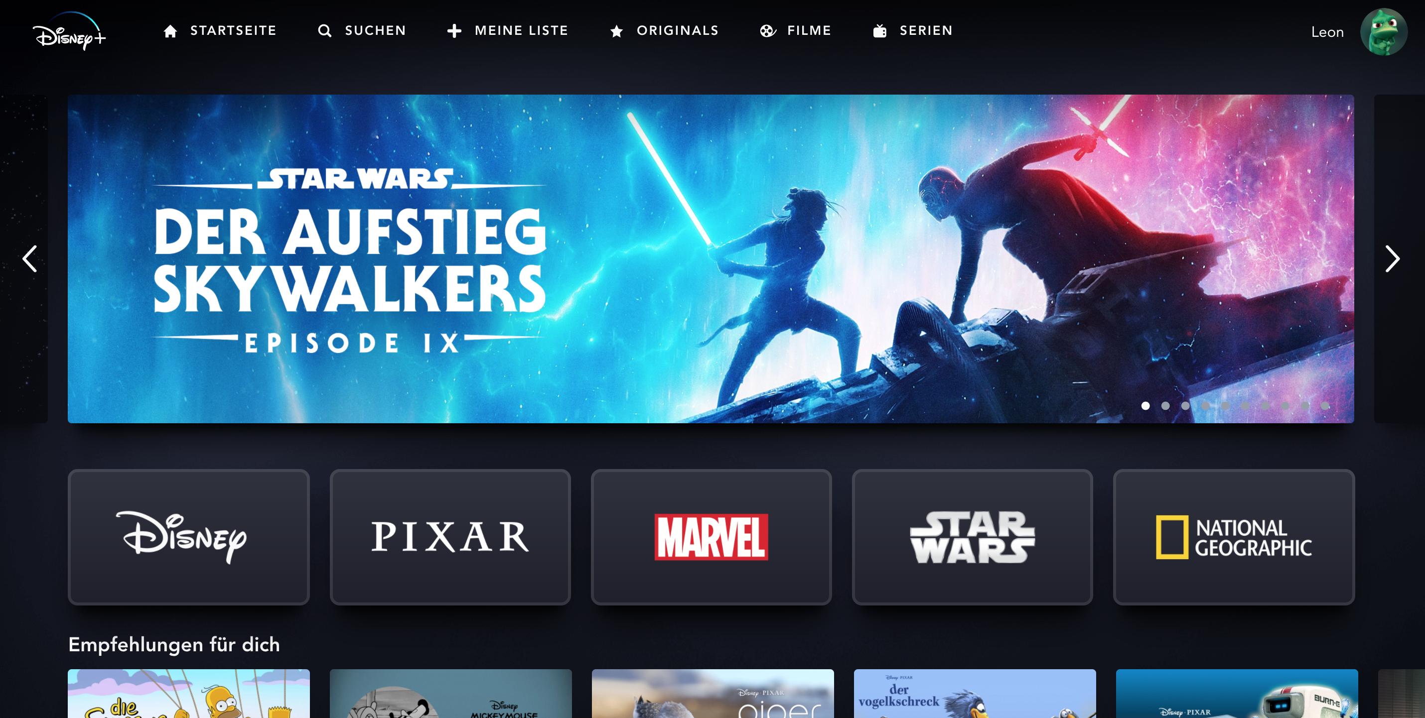 Disney Plus bietet unter anderen alle Teile der Star Wars-Reihe an. |Bild: Disney