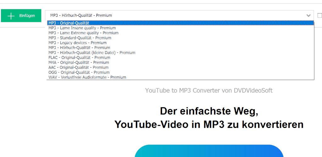 Youtube mp3 converter premium mitgliedschaft