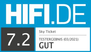 HIFI.DE Testsiegel für Sky Ticket im Test: Ist der Streaming-Dienst den Preis wert?