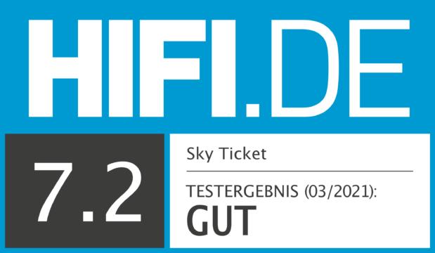 HIFI.DE Testsiegel für Sky Ticket