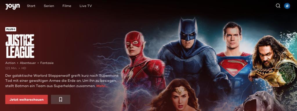 Justice League bei Joyn
