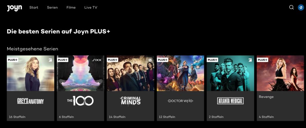 Die besten Serien bei Joyn Plus