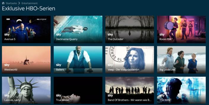 Sky Ticket ist die deutsche Heimat von HBO-Serien. |Bild: Sky
