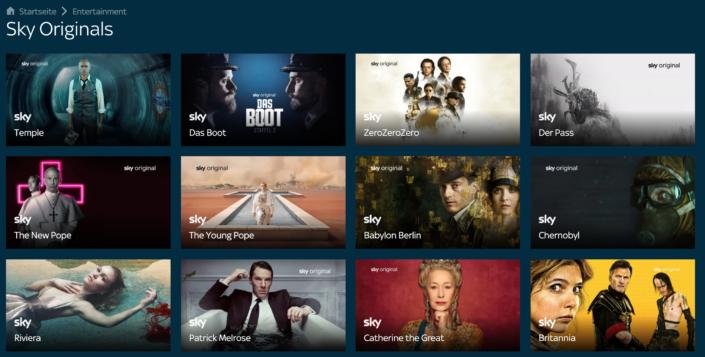 Eigenproduktionen á la Netflix oder Amazon bietet Sky nicht an. Exklusive Inhalte gibt es aber dennoch. | Bild: Sky Ticket
