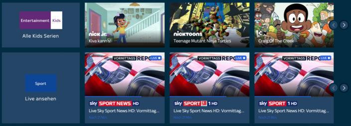 Das Sportpaket bei Sky