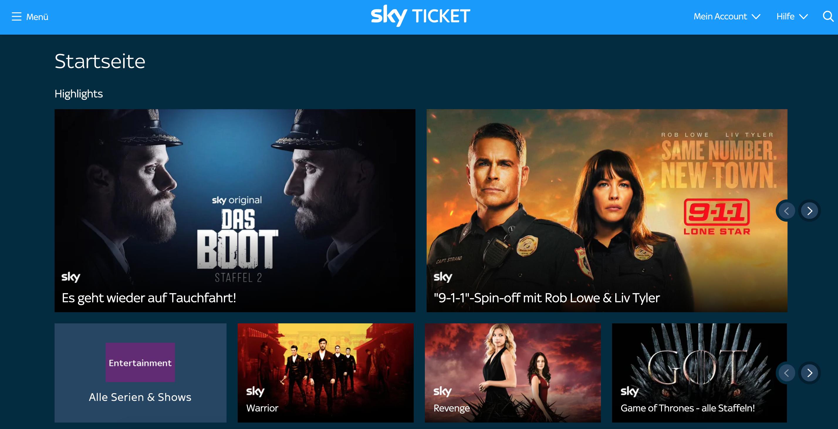 Sky ist bekannt dafür, gute deutsche Serien wie Das Boot exklusiv anzubieten. | Bild: Sky